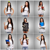 Portrait Of Multi Tasking Woman — Stock Photo