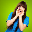 Portrait of a teenager screaming — Stock Photo