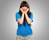 Young woman screaming — Stock Photo