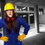 Woman Worker With Helmet — Stock Photo #12048236