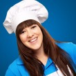 Portrait of a happy female chef — Stock Photo