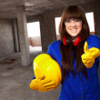 Portrait Of A Young Female Worker — Stock Photo #12094523