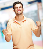 Portrait Of Excited Young Man — Stock Photo