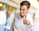 Happy Young Man With Thumbs Up — Stock Photo