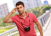 Portrait d'un homme à la recherche de quelque chose — Photo