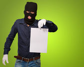 Burglar In Face Mask — Stock Photo