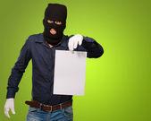 Hırsız yüz maskesi — Stok fotoğraf