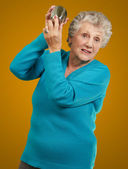 Portrait Of A Angry Mature Woman — Stock Photo