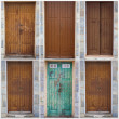 Collection Of Wooden Doors - Stock Photo