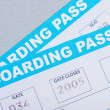 Stock Photo: Airline Boarding Pass