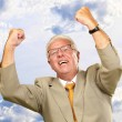 Senior Business Man Cheering — Stock Photo