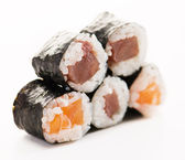 Five Fresh Sushi Rolls — Stock Photo