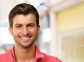 Portrait Of A Young Man Smiling — Stock Photo