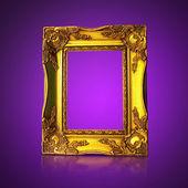 Golden Art Frame — Stock Photo