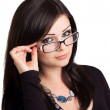 Young woman wearing glasses — Stock Photo #10805311