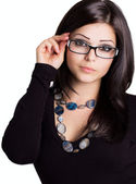 Beautiful girl wearing glasses — Stock Photo