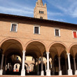 Basilica Abbey of San Mercuriale and cloister in Forlì, Italy — ストック写真