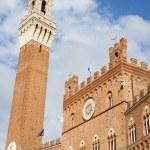 Siena Town Hall (Palazzo Comunale) — Stock Photo