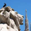 Piazza del Duomo in Milan, Italy — Stock Photo #11396806