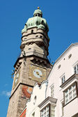 The Old Town watch tower of Innsbruck — Stock Photo