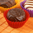 Stock Photo: Mixed chocolate pralines
