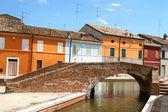 Colorful houses of Comacchio — Stock Photo