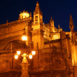 Cathedral of Seville by night — Stock Photo