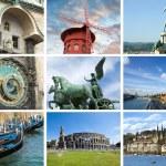 European landmarks collage — Stock Photo #10910311