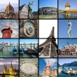 Постер, плакат: European landmarks collage