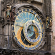 Medieval astronomical clock in Prague — Stock Photo