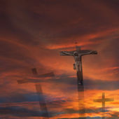 Jesus god cross religion — Stock Photo