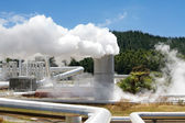 Geothermal power station alternative energy — Stock Photo