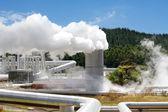 Geothermal power station alternative energy — Stock Photo