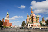 Moscow, St Basil Cathedral and Red Square — Stock Photo
