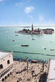 San Marco square, Venice lagoon — Stock Photo