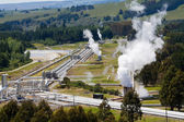 Altenative energy geothermal power station — Stock Photo