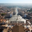 Stock Photo: VIEW FROM THE TOP OF ST. PETER'S BASILICA, ROME
