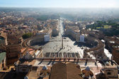 VIEW FROM THE TOP OF ST. PETER'S BASILICA, ROME — Stock Photo