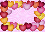 Hjärtat massor av hjärtat — Stockfoto