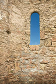 Castle window — Stock Photo