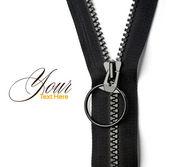 Black zipper — Stock Photo