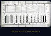 Calibrator perforation — Stock Photo