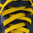 Yellow Shoelace — Stock Photo