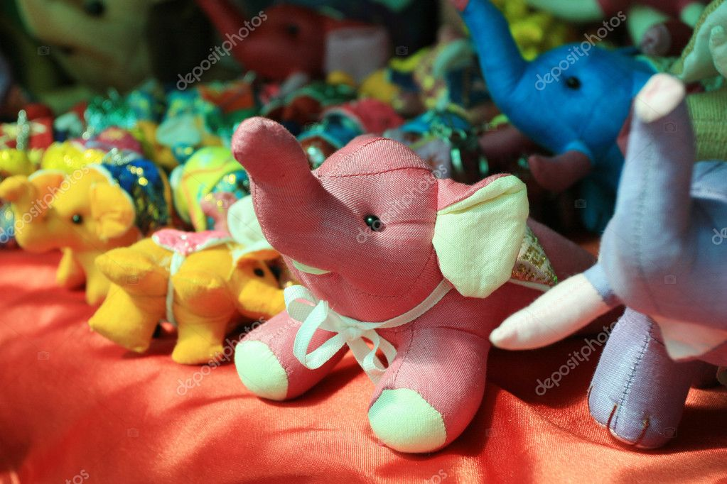 Elephant Dolls in Thailand — Stock Photo #10755293