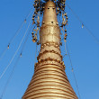 Top of golden stupa — Stock Photo