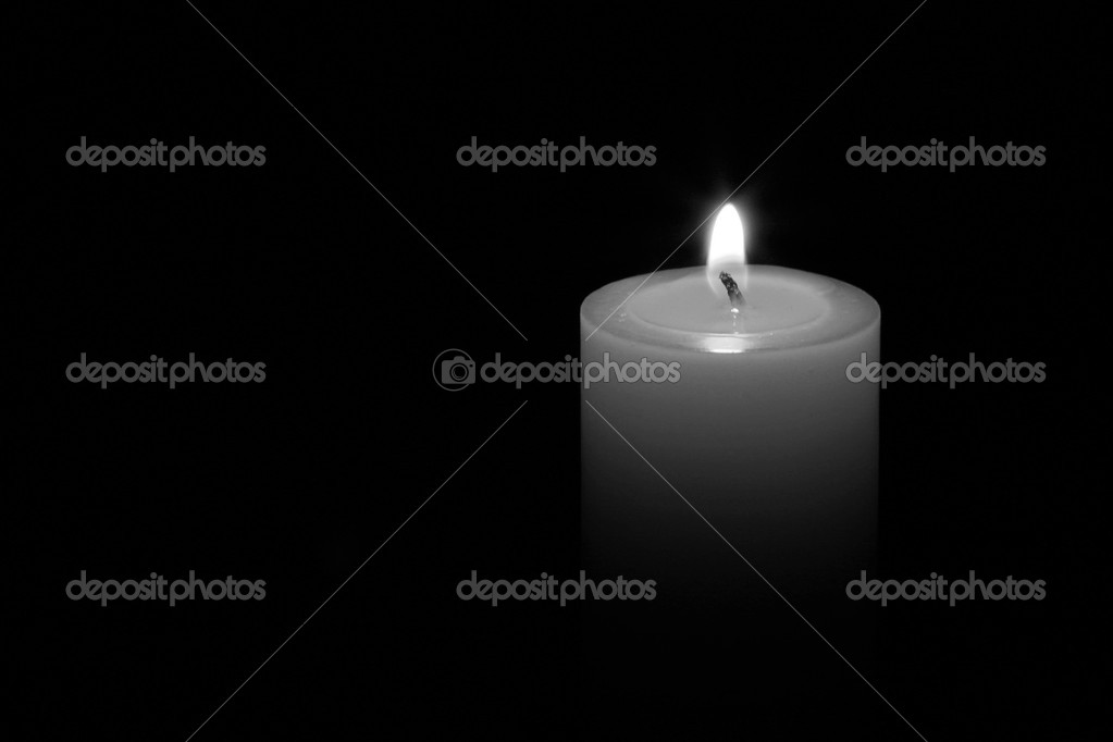 A candle isolated with black background — Stock Photo #11210551