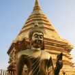 Golden Pagoda and Buddha — Stock Photo