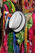 Scarfs and hat — Stock Photo
