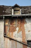 Abandoned timbered house — Stock Photo