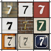 Numbers seven — Stock Photo